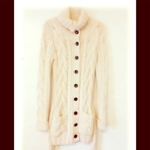 Abercrombie & Fitch White Cardigan